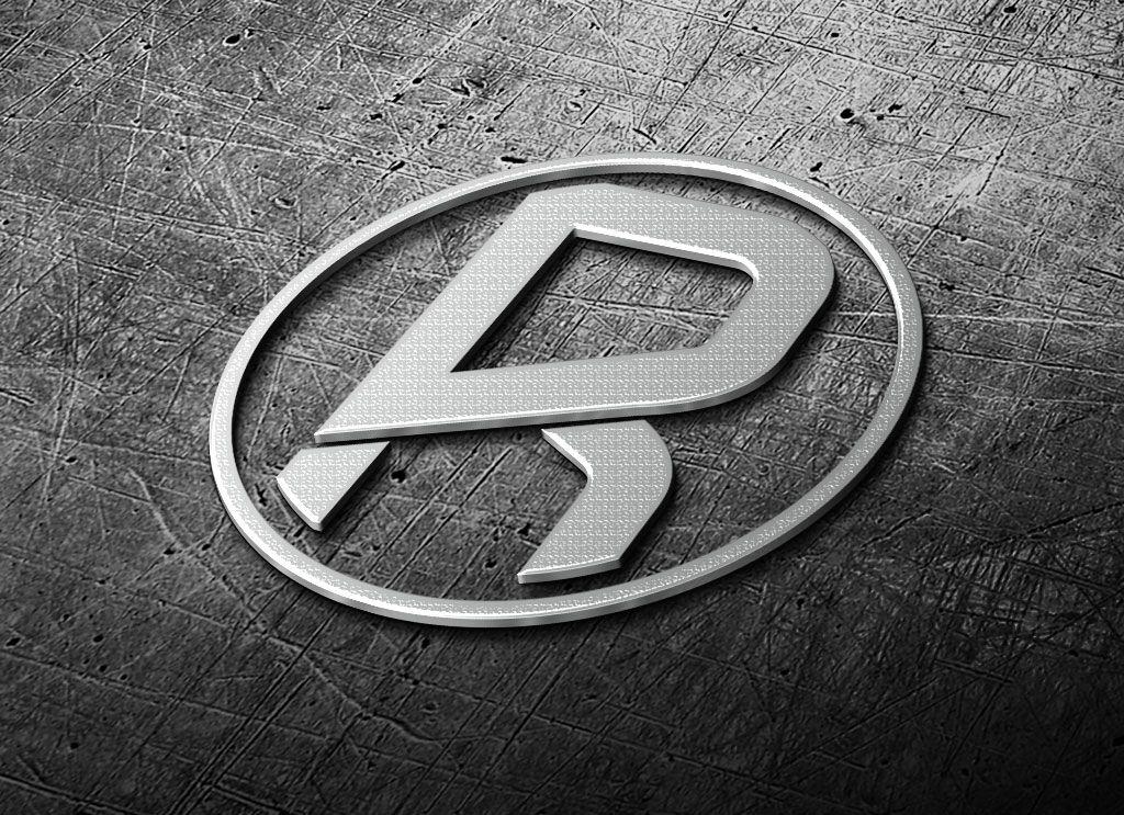 Free 3D Realistic Steel Logo Mark Mockup PSD Logo's