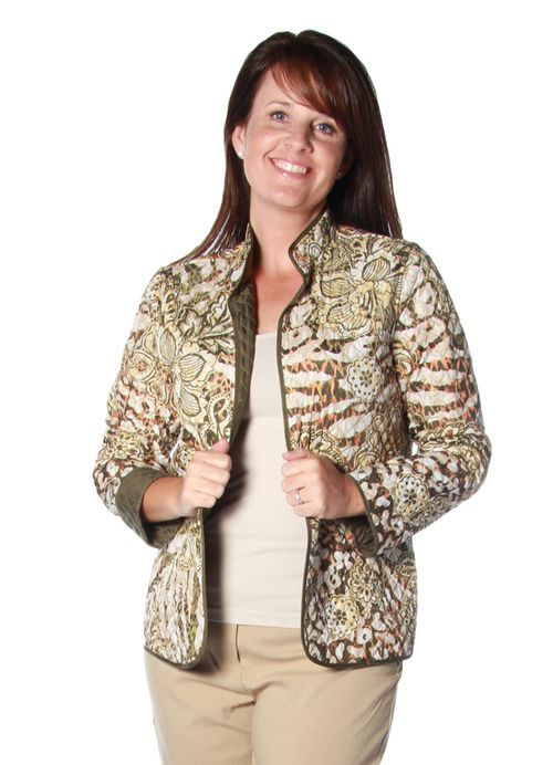 Cactus Ranch Floral Skin Quilt Jacket in Multi by Alfred Dunner