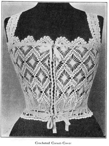 Photo of Free Pattern!  1912 Crocheted Corset Cover – Wearing History® Blog