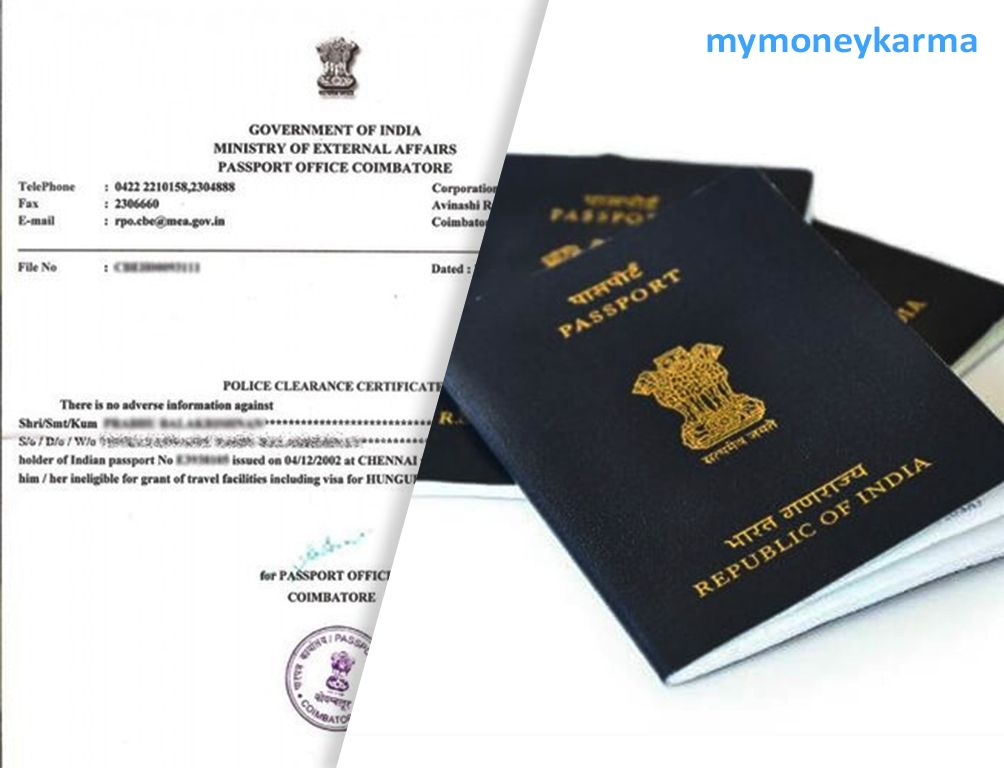 Need A Police Clearance Certificate Apply For It Online Mymoneykarma Policeclearancecertificate Passport Services Certificate Format Passport Office