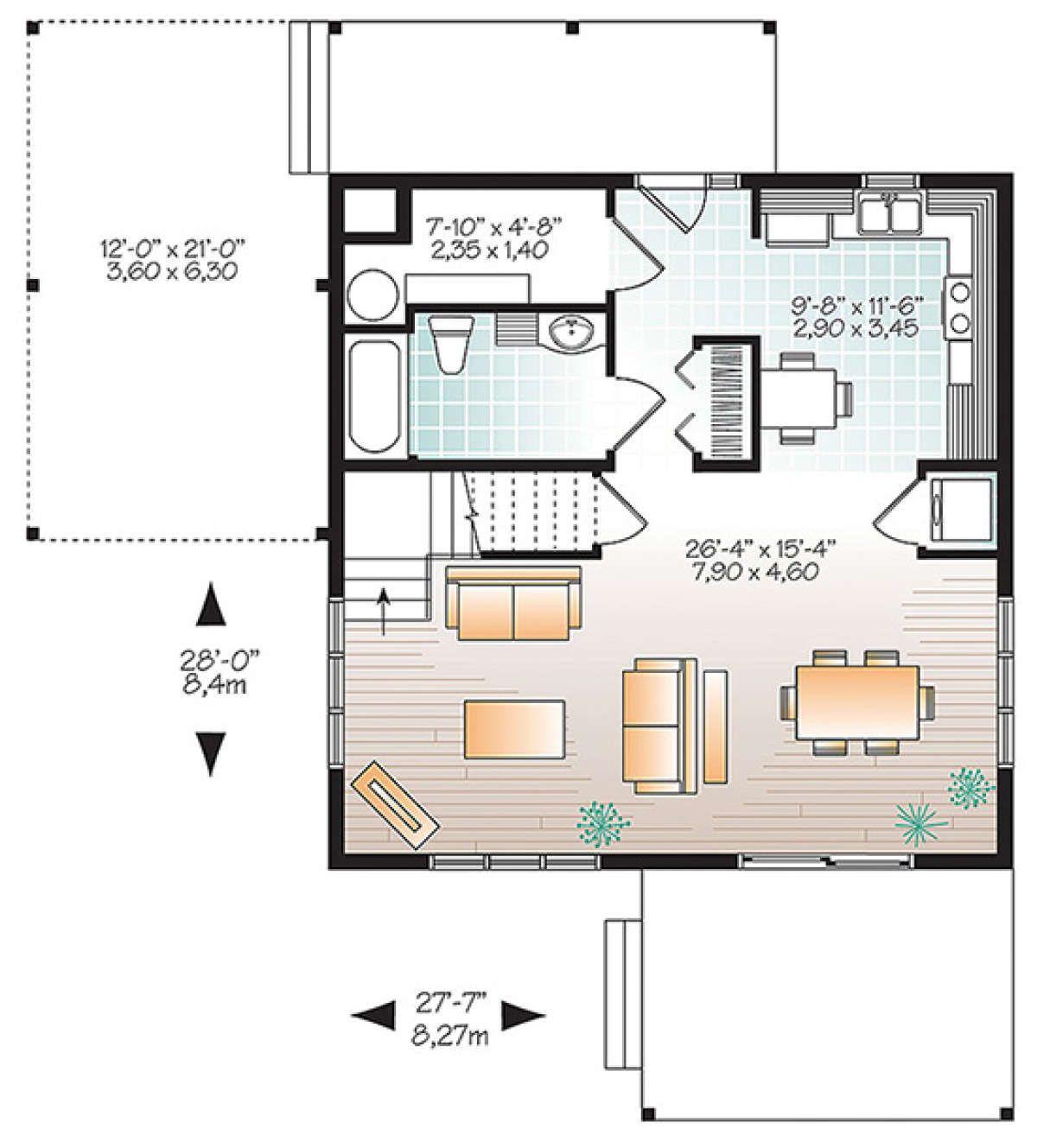 House Plan 034 01116 Contemporary Plan 1 200 Square Feet 2 Bedrooms 2 Bathrooms In 2021 Modern Contemporary House Plans Modern Style House Plans House Plans