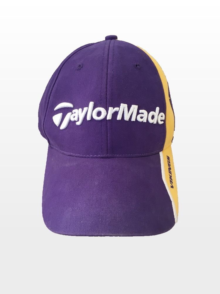 Taylormade Golf Minnesota Vikings NFL Cotton Purple Golf Hat Cap ... f07654946