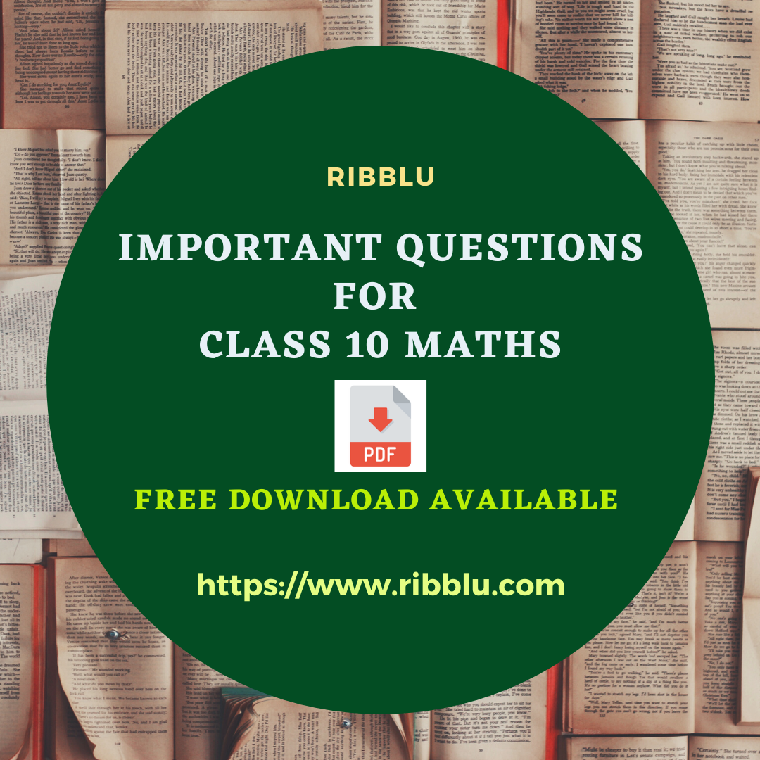 Pin On Important Questions For Class 10 Maths