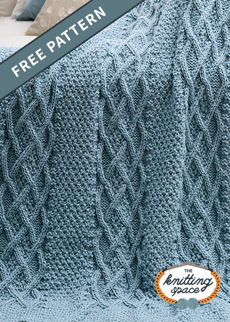 Cushy Cables Knitted Afghan [FREE Knitting Pattern]