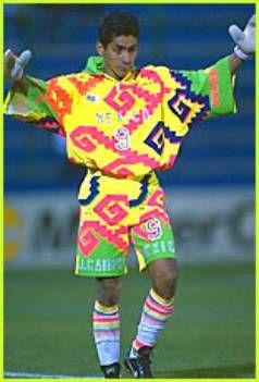 Jorge Campos Soccer Jersey Sports Uniforms Soccer Goalkeeper Shirts