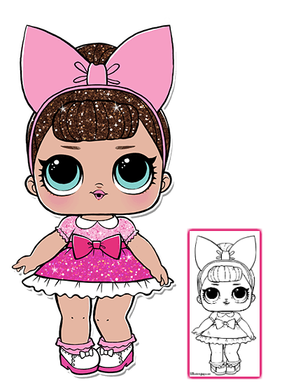 Lol Surprise Doll Coloring Pages Color Your Favorite Lol Surprise Doll Lol Dolls Dolls Coloring Pages