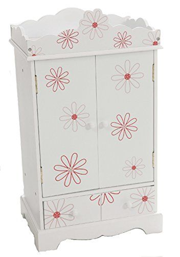 Large 18 Inch Doll Armoire Storage Furniture Fits American Dolls Fl