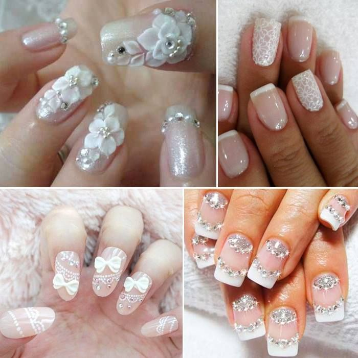Bridal Nail Art Designs French Nails 2017 Gorgeous Wedding Ideas For Guest Pictures Of