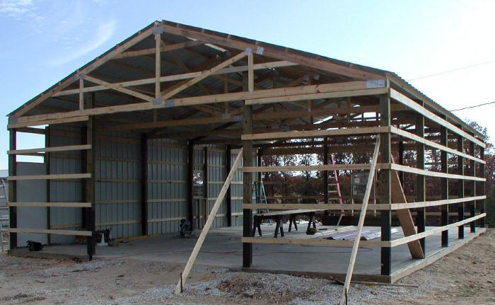 Pole Barn Metal Truss System