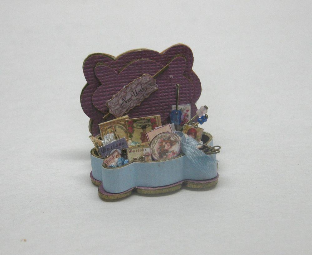 Dollhouse Miniature Ladies Boutique Notions//AccessoryTray Artisan Loretta Kasza