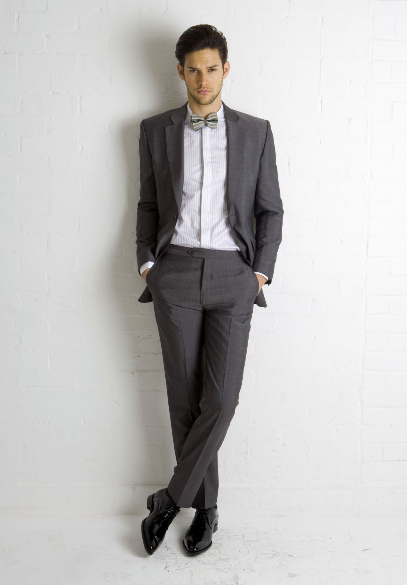 suit and tie for men | Grey Mohair Suit & Bow Tie from ...