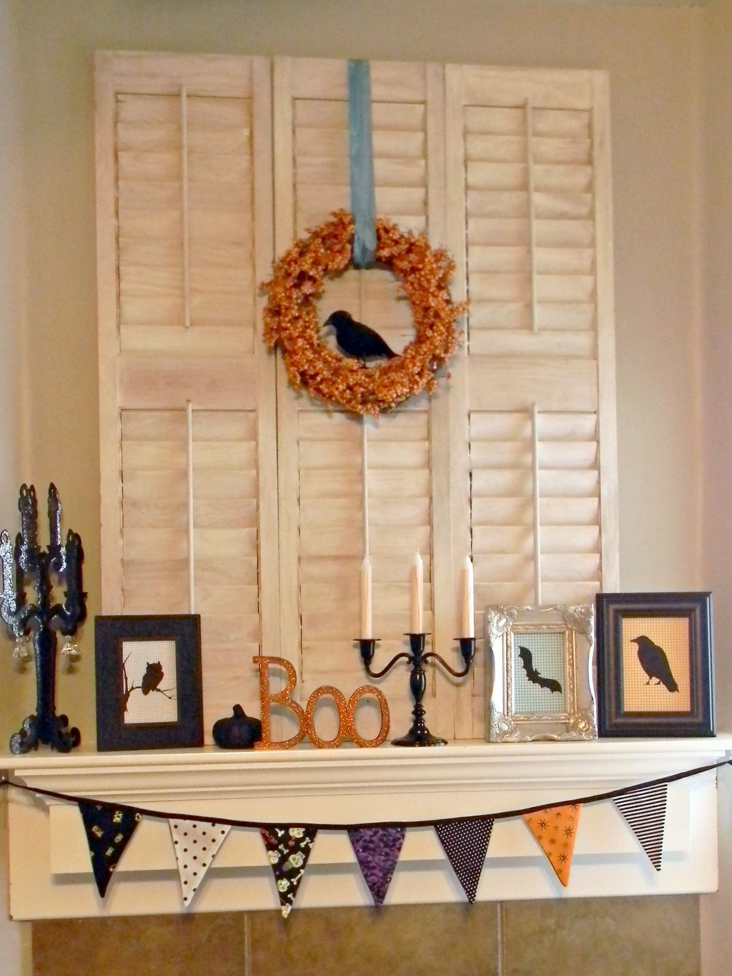 organize and decorate everything halloween mantel - Halloween Mantel Decor