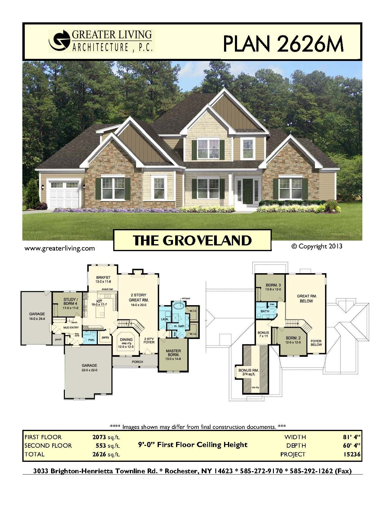 Plan 2626m The Groveland House Plans Two Story House Plans 1st Floor Master Greater Craftsman Bungalow House Plans New House Plans Vintage House Plans