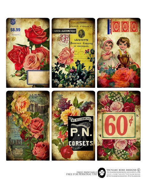 Tsunami Rose Designs Free Printable PRINTABLES Pinterest