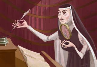 Mauricio Cardenas: Sor Juana Componiendo Versos