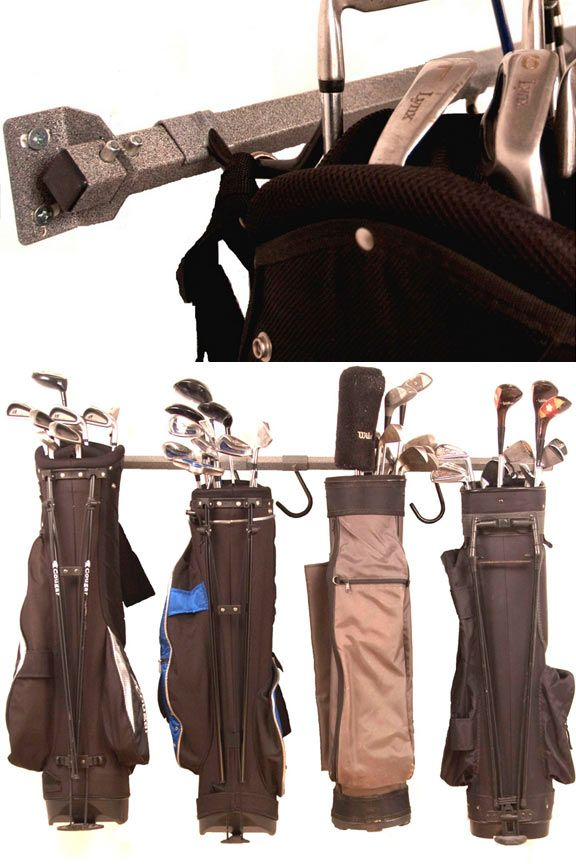 Golf Bag Storage Rack: Large, Sturdy Storage Device. Holds Up To Six Bags