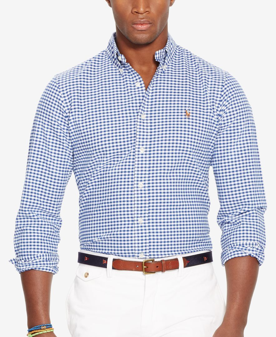 85a4e635 Polo Ralph Lauren Slim-Fit Stretch-Oxford Shirt | white jeans in ...