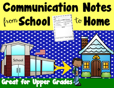 https://www.teacherspayteachers.com/Product/Communication-Notes-Upper-Grades-2086462