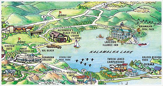 Vernon BC, Map | Vernon BC | Vernon bc, Vernon, Tourist map