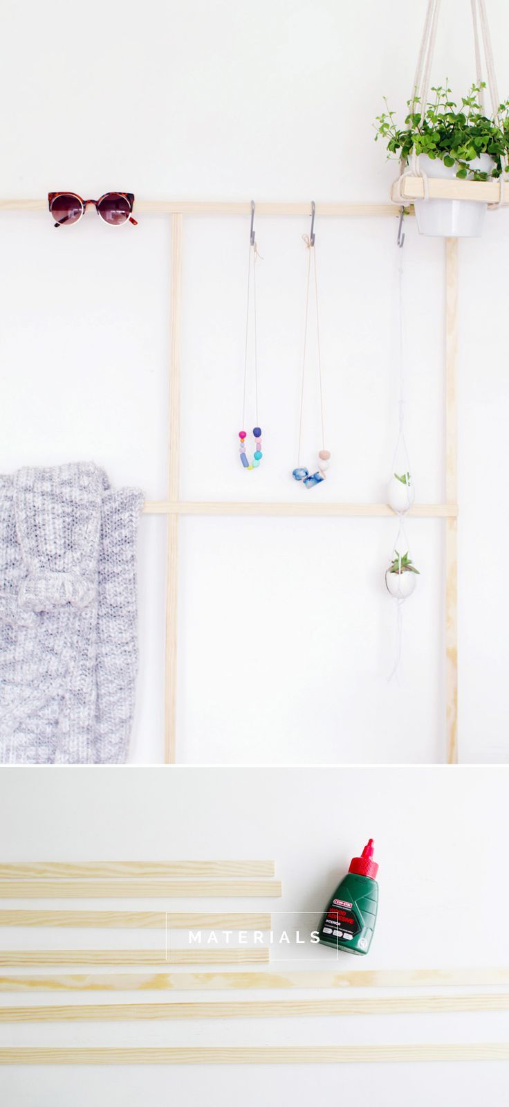 DIY Trellis Clothes Racks is part of Modern Clothes Rack - Somewhere to put everything  this DIY Trellis Clothes Rack will give you a place to keep jewellery, jeans and eve jelly shoes!