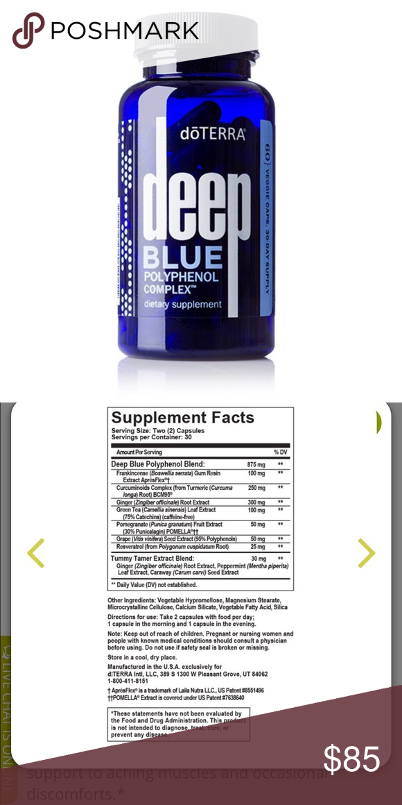 Deep Blue Polyphenol Complex Nwt My Posh Picks Pinterest