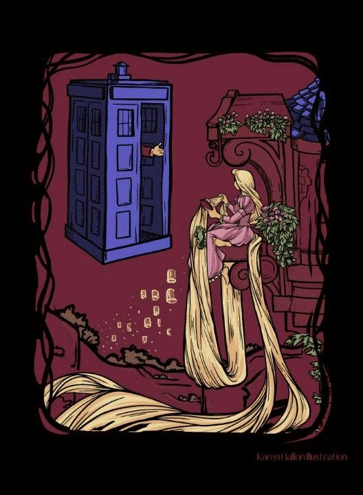 Doctor Who rescues Rapunzel