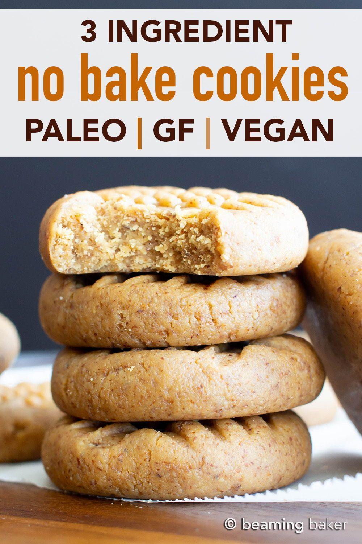 3 Ingredient Paleo No Bake Cookies V Gf Hands Down The Tastiest