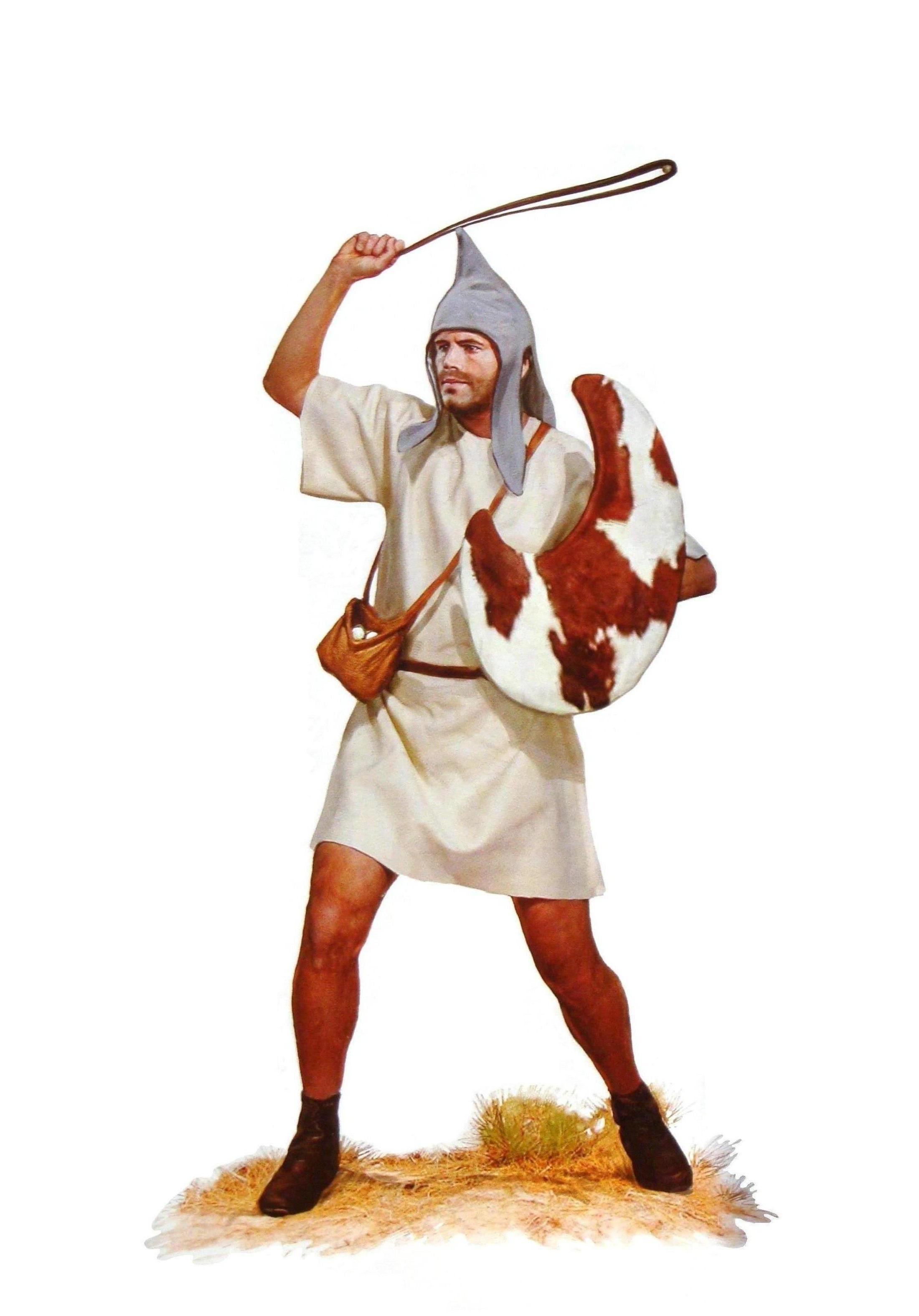Thracian Peltast , Slinger