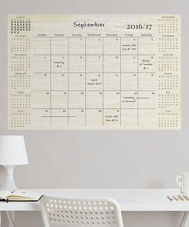 Weathered Academic Calendar 2016-17 Wall Decal #zulily #zulilyfinds