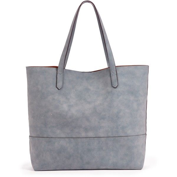 Sole Society Dawson Oversize Per 65 Liked On Polyvore Featuring Bags Handbags Tote Chambray Travel Bag