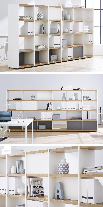 cleanes, minimalistisches Büromöbel: Raumteiler – ideal im Home ...
