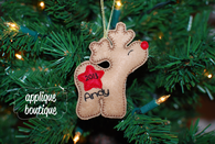 Machine Embroidery Design, In The Hoop, Reindeer Boy Christmas Ornament with Instructional PDF