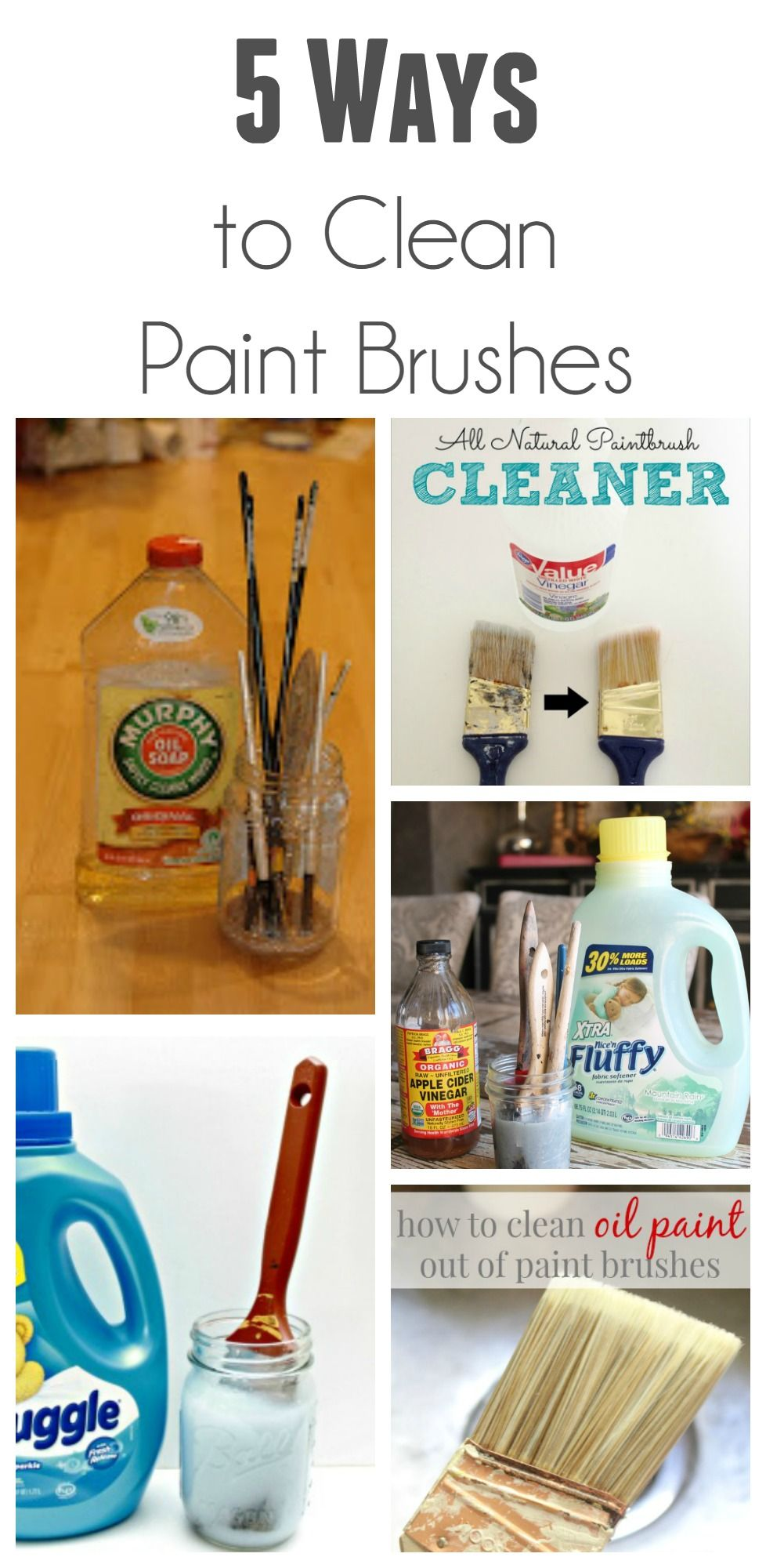 Ways To Clean Paint Brushes Cleaning