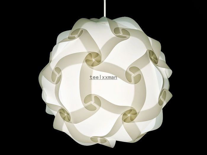 Modern Iq Puzzle Lamp Shade Diy Pendant Fixture Home Decor 30 Pcs White Xl Modern Diy Lamp Shade Pendant Light Modern Lamp Shades