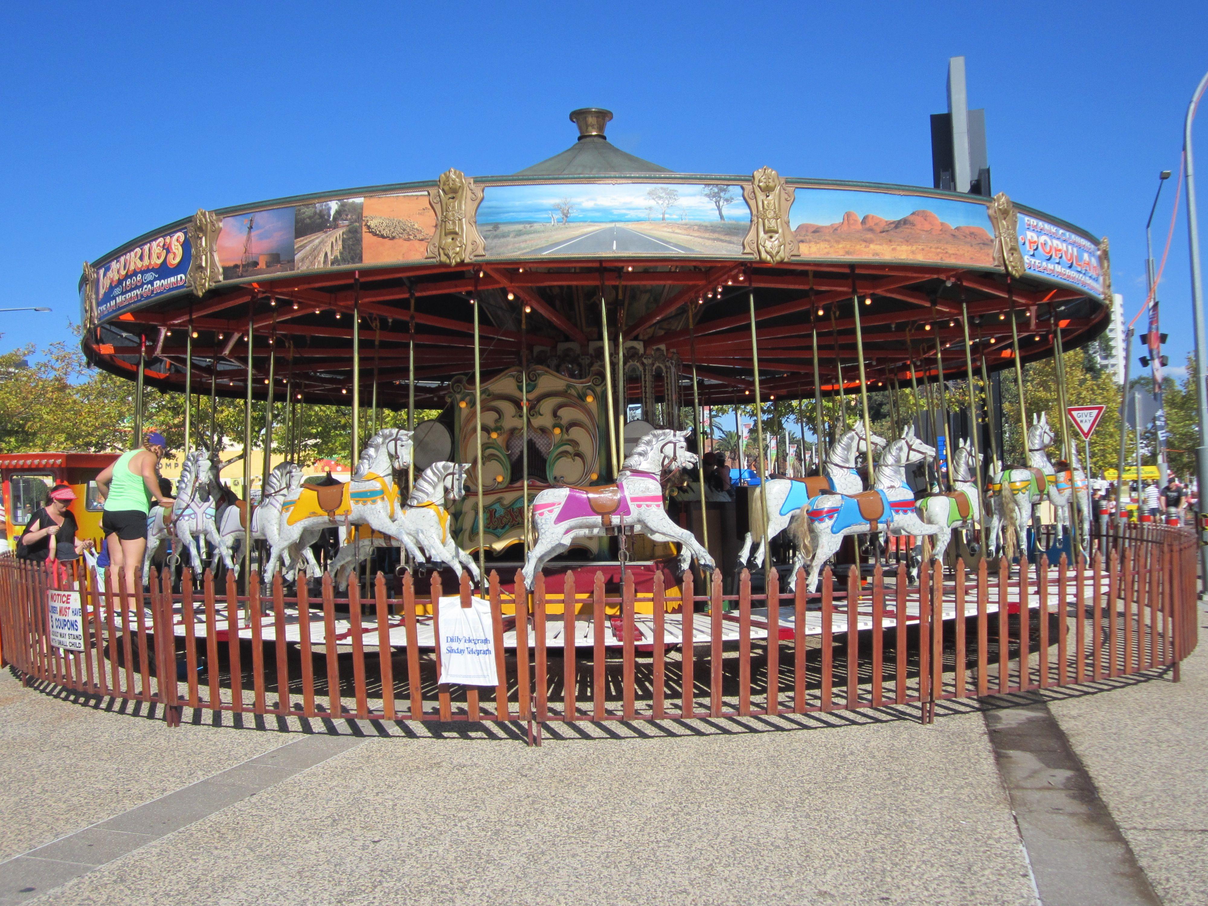 the classic steam merry go round kids rides fun love summer