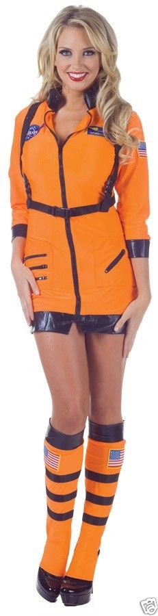 Details about ASTRONAUT SEXY ORANGE ADULT WOMENS COSTUME Space ...