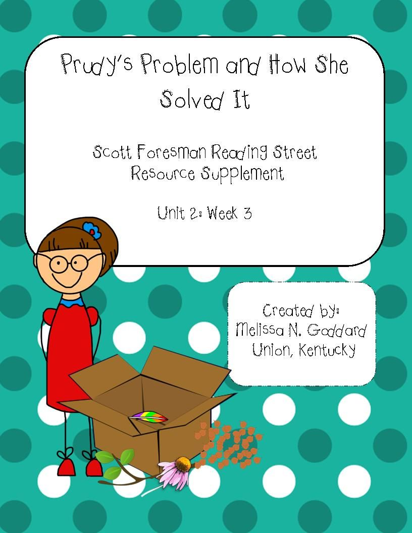 Workbooks scott foresman social studies workbook answers 5th grade : Prudy's Problem and How She Solved It Reading Street Grade 3 ...
