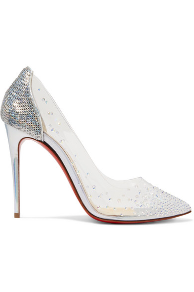 d5468e1bd1e Christian Louboutin - Degrastrass 100 Embellished Pvc And Leather ...