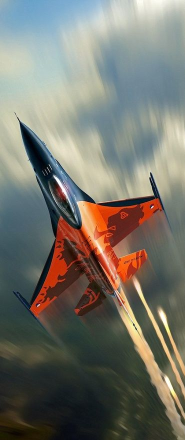 Orange one, so awsome, saw him flying with Airforce days in Volkel.