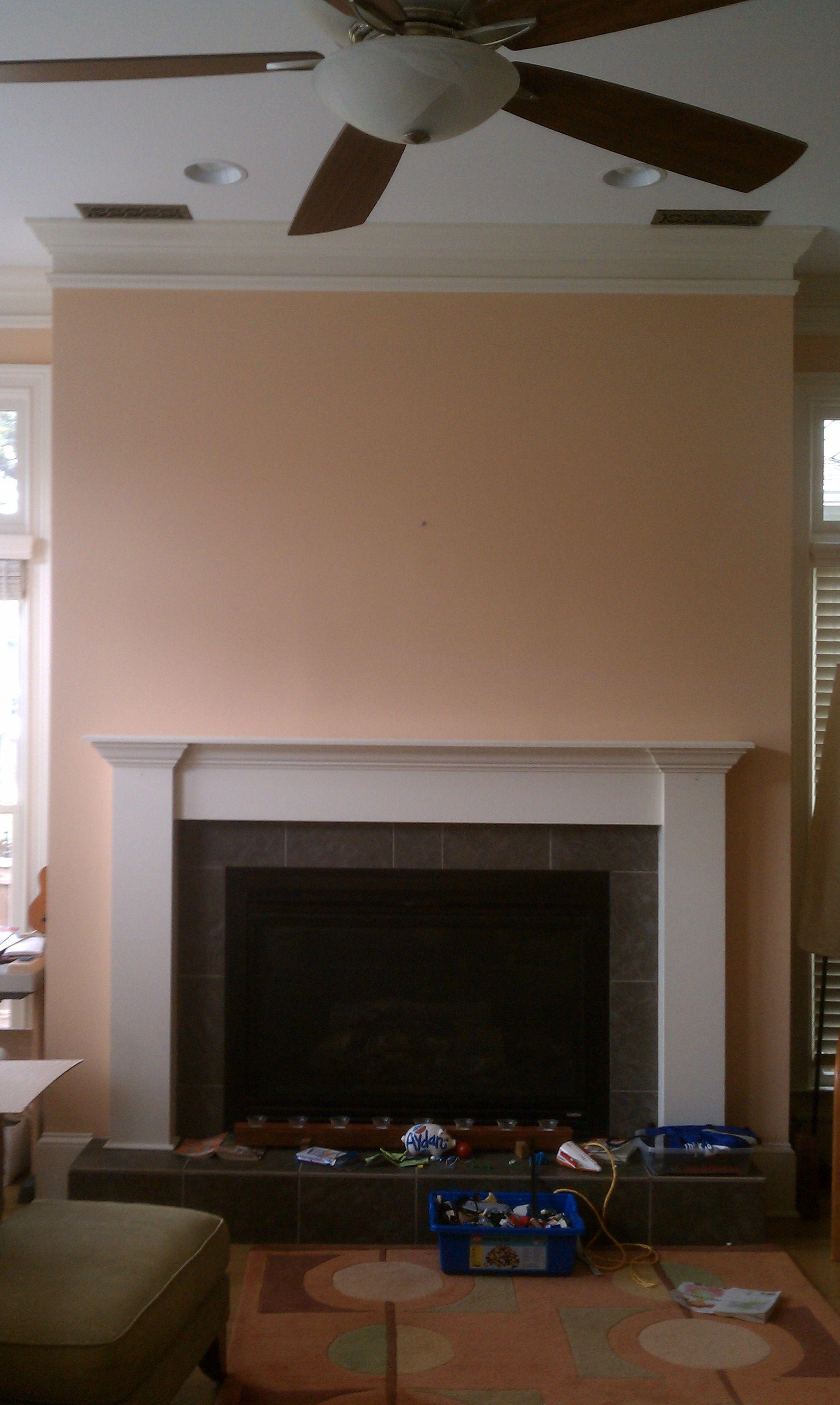 Living Room, fireplace wall