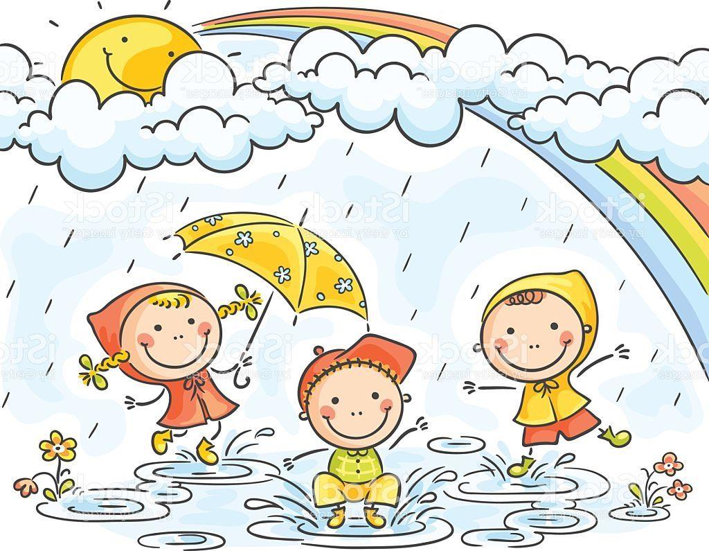Drawing Of Rainy Season For Children Rain Drawing For Kids ...