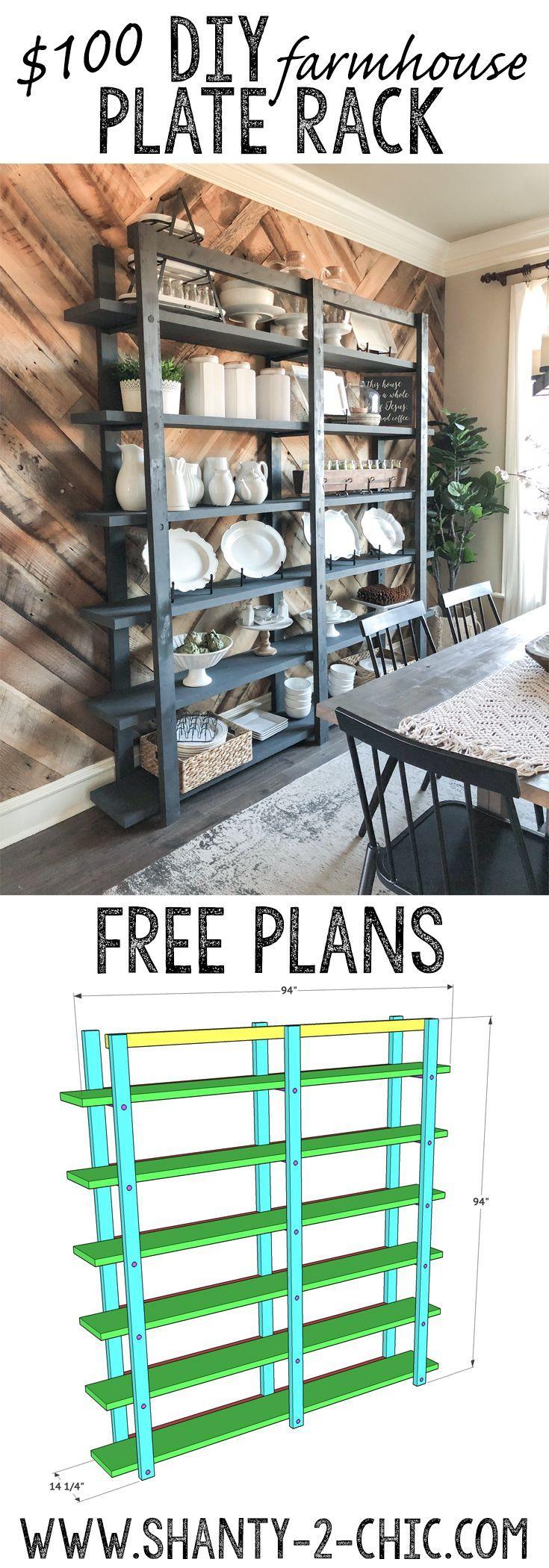 DIY Modern Farmhouse Plate Rack - Shanty 2 Chic