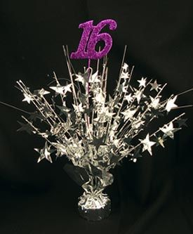 Sweet 16 Centerpieces Ideas With Balloons Purple And
