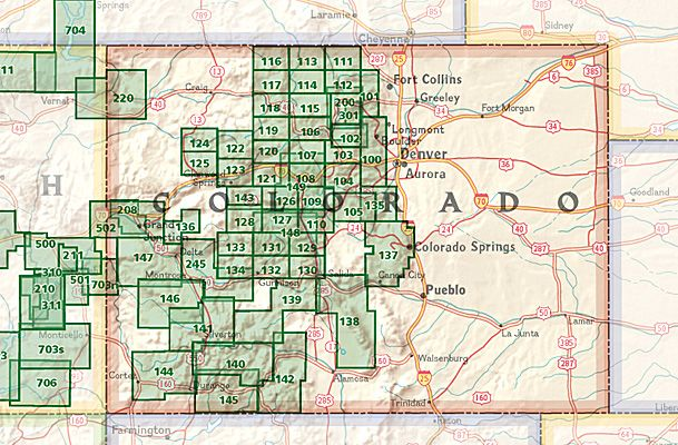 National Geographic Trails Illustrated Maps Colorado Gear - Trails illustrated maps