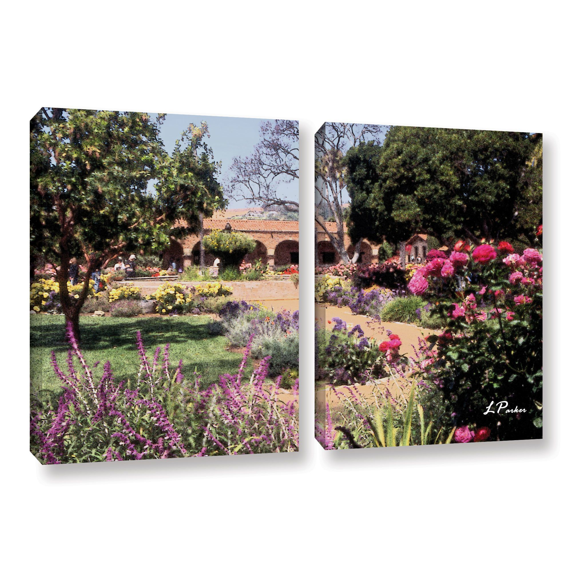 Mission San Juan Capistrano Ii by Linda Parker 2 Piece Photographic Print on Gallery Wrapped Canvas Set