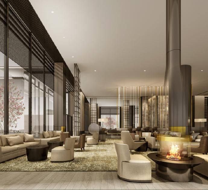 Bar And Lounge Interior Design: Pin By H-J HUJIE On 办公室大堂 In 2019