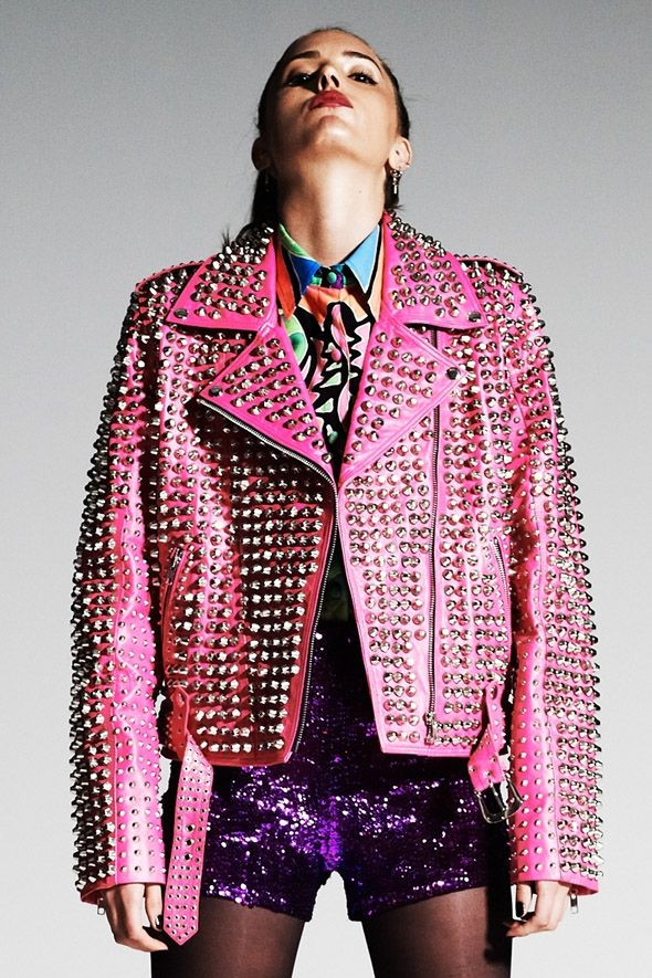 DI$COUNT TRA$H FULLY STUDDED KANGAROO LEATHER JACKET | Window ...