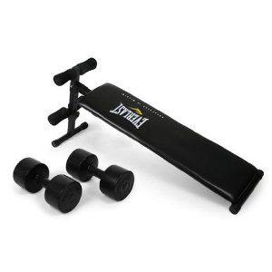 Everlast Ev 100 Workout Sit Up Bench Dumbbells 100kg Best Seller 100 Workout Dumbbells Everlast