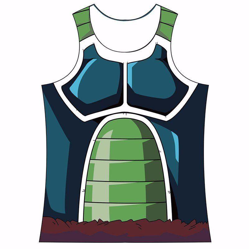 d336a8a50220c9 Bardock Saiyan Army Battle Suit Armor 3D Skin Tank Top