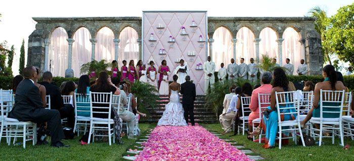 An Elegant Wedding At Versailles Gardens One Only In Nau Bahamas